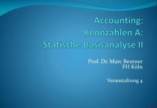 Prof. Dr. Marc BeutnerFH KölnVeranstaltung 4