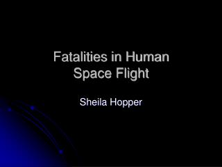 fatalities in human