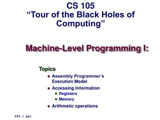 Machine-Level Programming I: