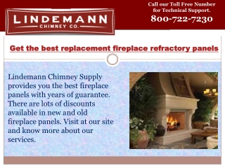 Replacement fireplace refractory panels