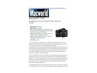 samsung nx11 review (macworld)