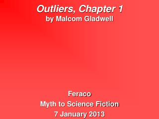Outliers, Chapter 1 by Malcom Gladwell