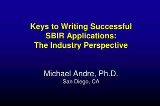 Personal SBIR/STTR Experience