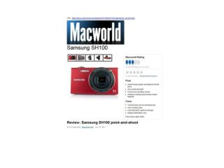 review: samsung sh100 point-and-shoot (macworld)