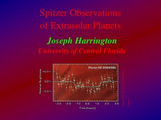 Spitzer Observations