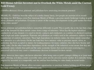 bill hionas advises investors not to overlook the white meta