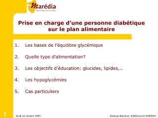 Solange Blanchet, diététicienne MAREDIA
