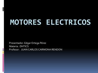motores eelctricos