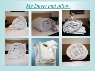 Duvets and Pillow