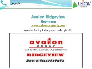 Avalon Ridgeview Neemrana - A Splended Residence