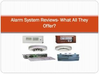 Alarm System Reviews