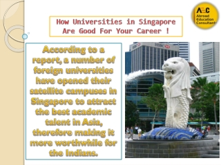 Universities in Singapore Are Good For Your Career !