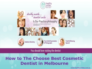 How to The Choose Best Cosmetic Dentist in Melbourne