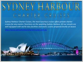 SYDNEY HARBOUR CHARTER BOATS
