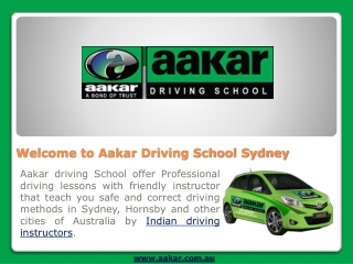 Aakar Driving School Indian driving instructor sydney