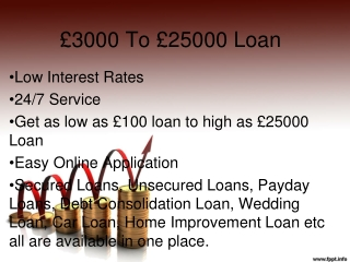 3000to25000 Loans
