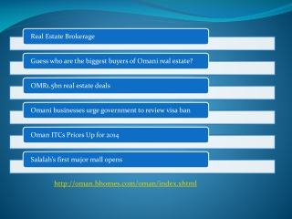 important information about Oman and Real Estate Oman