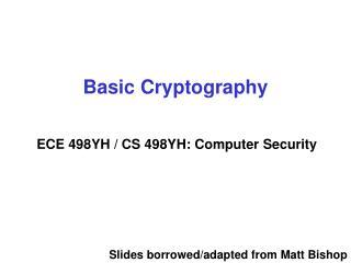 Basic Cryptography