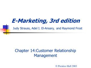 Chapter 14:Customer Relationship Management