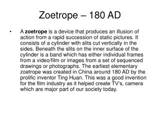 Zoetrope – 180 AD