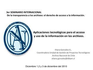 Diciembre 1,2 y 3 de diciembre del 2010
