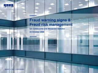 Fraud warning signs