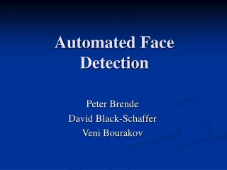 Automated Face Detection
