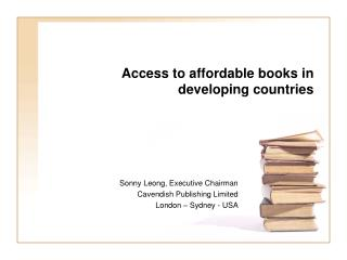 Access to affordable books in developing countries