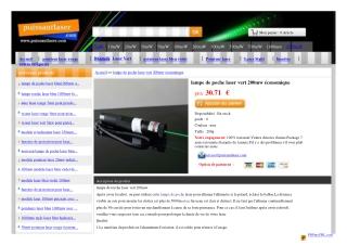 pointeur laser vert chez www.puissantlaser.com