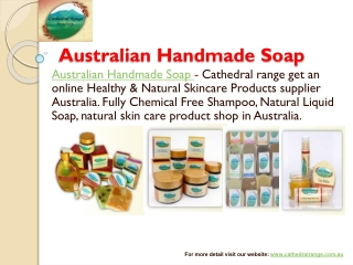 Handmade Soaps and Healthy Natural Skin Care Products Suppli