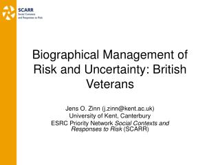 Risk Research and  the Biographical Approach