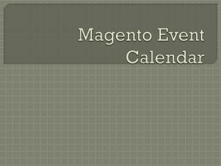 Magento Event Calendar