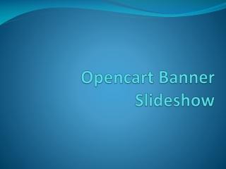 Opencart Banner Slideshow