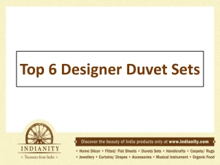 Top 6 Disgner duvet sets
