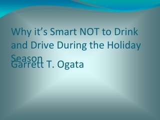 Why it is not smart to Drink and Drive