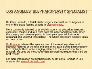 Los Angeles Blepharoplasty Specialist