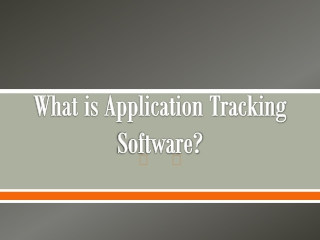 What is Application Tracking Software