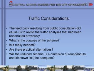 Traffic Considerations