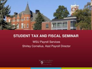 STUDENT TAX AND FISCAL SEMINAR