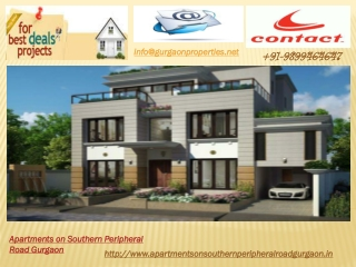 Apartments on Southern Peripheral Road Gurgaon