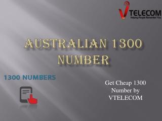 Australian 1300 Number