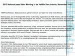 2013 NationaLease Sales Meeting to be Held in San Antonio