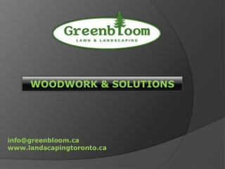 Landscaping Toronto - WOODWORK