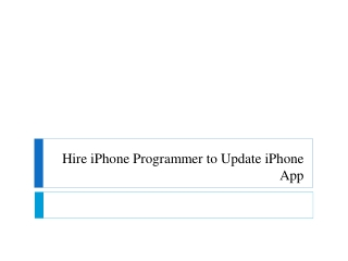 Upgrade iPhone App by hiring developers