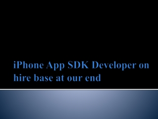 For iPhone SDK development India MADI is the right platform