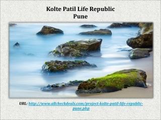 Kolte Patil Life Republic Hinjewadi Pune