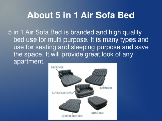 5 in 1 Air Sofa Bed India