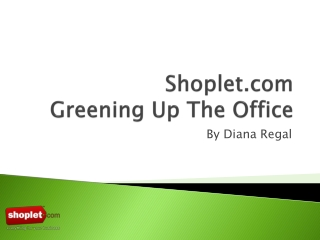 Why Greening Up The Office Matters