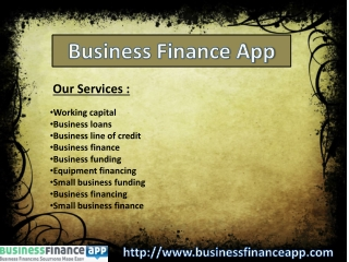 Business Loans - Business Finance App