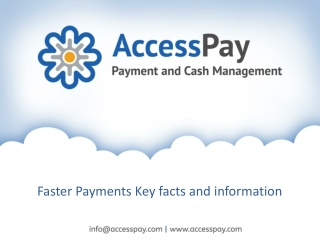 Faster Payments Key facts and information